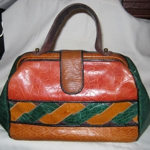 Moving Sale!   Sharif Leather Handbag Multicolor